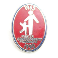 1965 1990 Foster Grandparent Program Red Enamel Tie Tack Pin*Silver Toned*M1 - Jewel Eureka