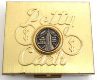 Vintage Petty Cash Gold Tone New York City Empire State Building Coin Box*Y389 - Jewel Eureka