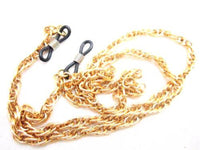 "Vintage Light Weight Gold Plated Chain Eyeglasses Necklace Holder 26""*Accessory - Jewel Eureka"