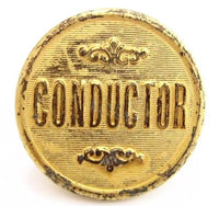 Old Railroad Conductor Vintage Button*J.R.Gaunt & Son*Made In England*24Mm*315D - Jewel Eureka