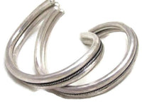 Gorgeous Vintage Pr Heavy Sterling Silver Custom Wrap Cuff Bangle Bracelets*925 - Jewel Eureka