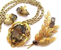 Exquisite Winard Gold Filled Necklace Earrings Pin Vintage Jewelry Set*40G*D265 - Jewel Eureka