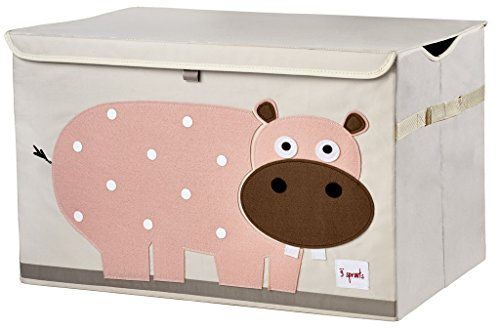 3 Sprouts Toy Chest, Hippo, Pink - Color Home Happy - Accessories for a happy modern home