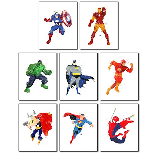 Superhero Wall Art Poster Prints Accessories Trendy