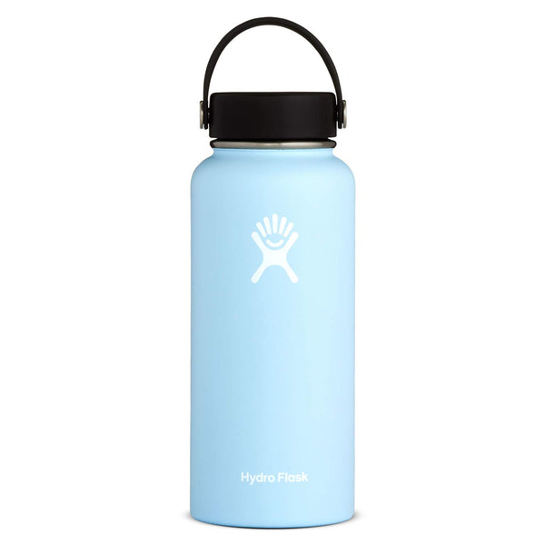 Hydro Flask Water Bottle - Stainless Steel & Vacuum Insulated - Wide Mouth with Leak Proof Flex Cap - 32 oz, Frost - Color Home Happy -