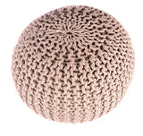 Shop Cable Pouf Ottoman -  Accessories For A Happy Trendy Modern Home at Low Prices  Color Home Happy - Accessories for a happy modern home