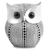 Owl Statue Decor (White) Small Crafted Buho Figurines for Home Decor Accents, Living Room Bedroom Office Decoration, Buhos Bookself TV Stand Decor - Animal Sculptures Collection BFF for Owls Lovers