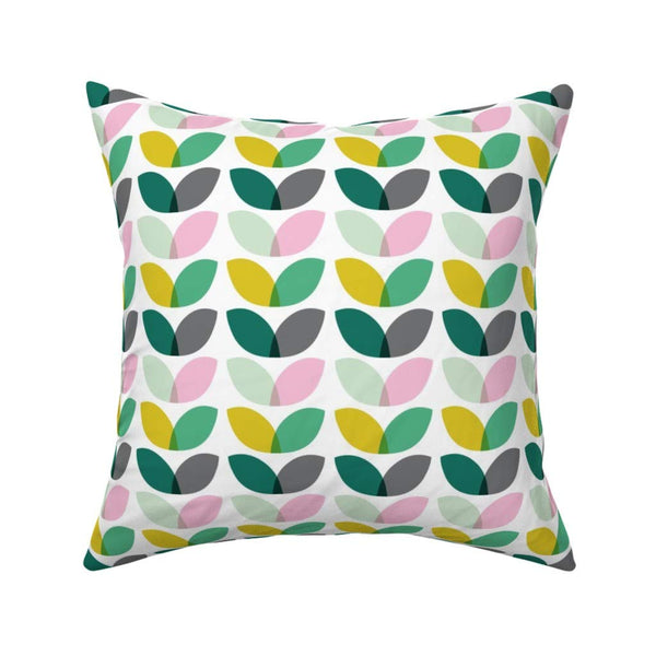 Geometric Flower Throw Pillow