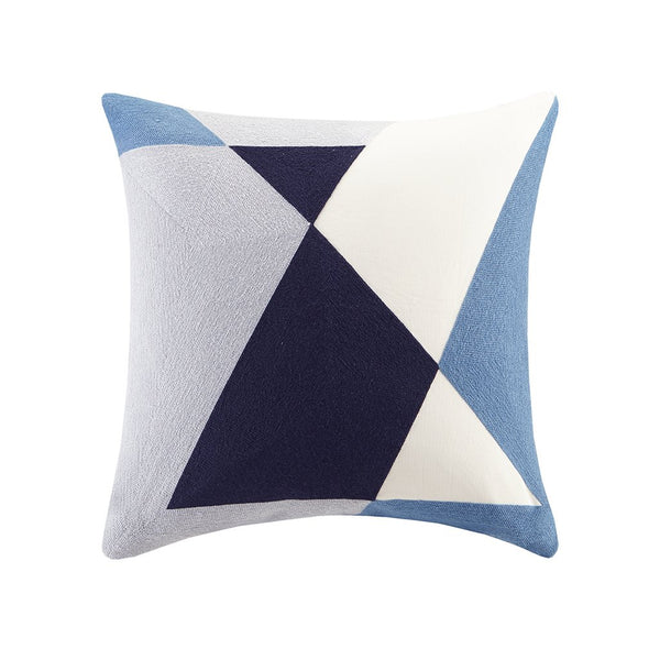 Shop Ink+Ivy Aero Embroidered Abstract Modern Feather Down Throw Pillow, Mid-Century Embroidered Square Mid Decorative Pillow, 20X20, Blue -  Accessories For A Happy Trendy Modern Home at Low Prices  Color Home Happy - Accessories for a happy modern home