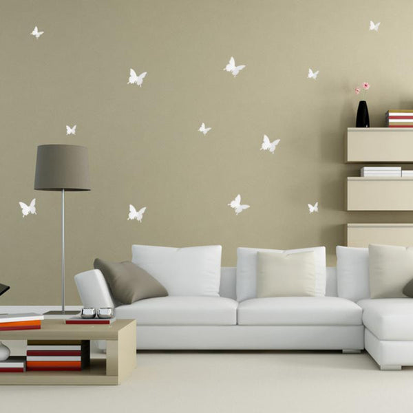 Shop 3D Butterfly Wall Decals (Set of 12) -  Accessories For A Happy Trendy Modern Home at Low Prices  Color Home Happy