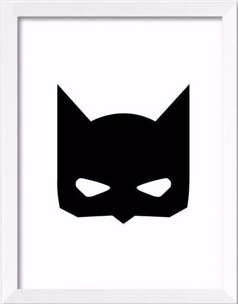 Shop Super Hero Mask Wall Poster -  Accessories For A Happy Trendy Modern Home at Low Prices  Color Home Happy