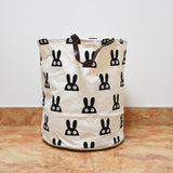 Shop Bunny Canvas Storage Bin with Leather Handles -  Accessories For A Happy Trendy Modern Home at Low Prices  Color Home Happy
