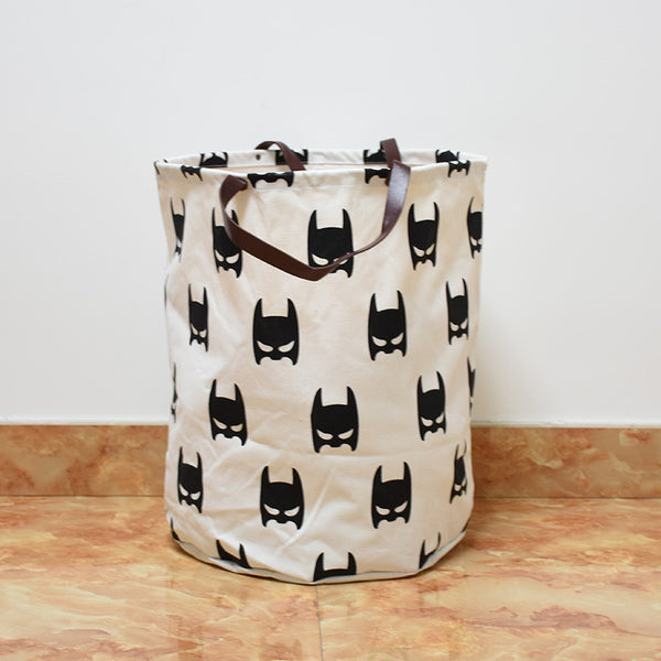 Batman Canvas Storage Bin with Leather Handles