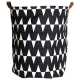Shop Chevron Canvas Storage Bin with Leather Handles -  Accessories For A Happy Trendy Modern Home at Low Prices  Color Home Happy - Accessories for a happy modern home