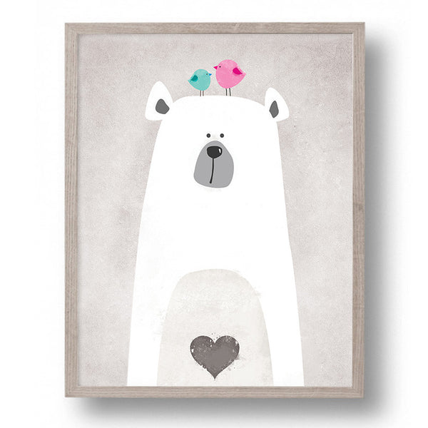 Shop Unframed Polar Bear Canvas Art Print -  Accessories For A Happy Trendy Modern Home at Low Prices  Color Home Happy