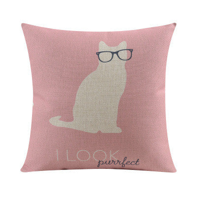 Shop Cat Throw Pillow Cover -  Accessories For A Happy Trendy Modern Home at Low Prices  Color Home Happy
