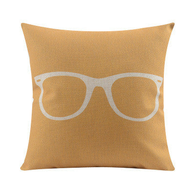 Shop Glasses Throw Pillow Cover -  Accessories For A Happy Trendy Modern Home at Low Prices  Color Home Happy - Accessories for a happy modern home