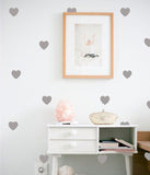 Shop Light Gray Heart Vinyl Wall Decals (Set of 36) -  Accessories For A Happy Trendy Modern Home at Low Prices  Color Home Happy