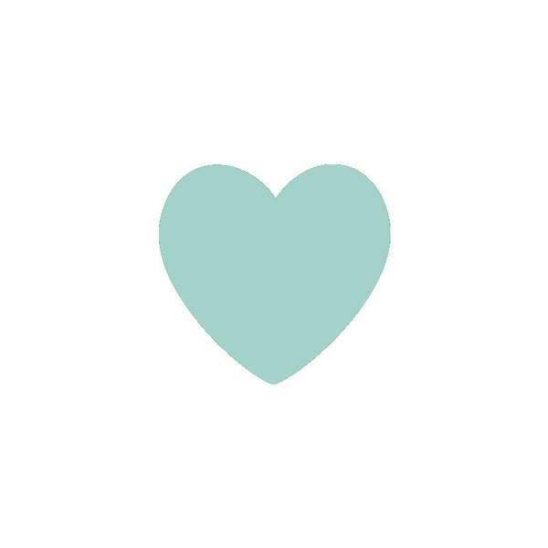 Mint Hearts Vinyl Wall Decals (Set of 36) - Color Home Happy - Accessories for a happy modern home
