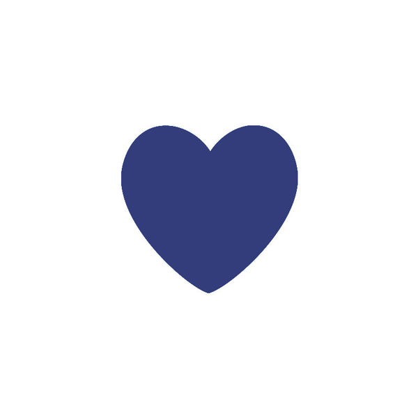 Dark Blue Hearts Vinyl Wall Decals (Set of 36) - Color Home Happy - Accessories for a happy modern home