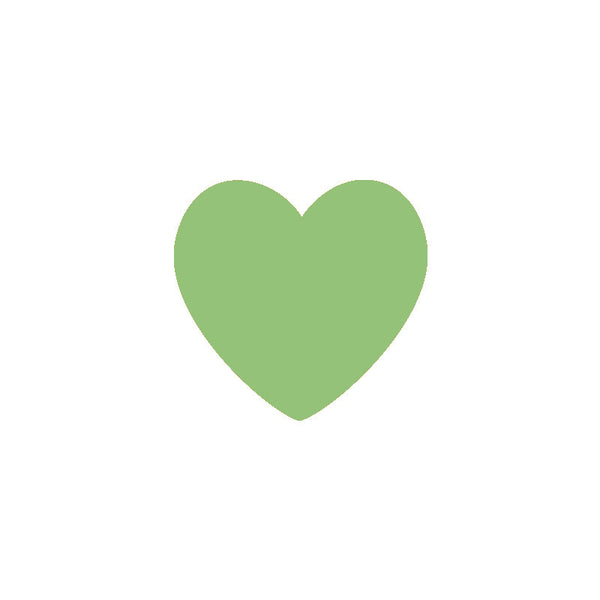 Light Green Heart Vinyl Wall Decals (Set of 36) - Color Home Happy - Accessories for a happy modern home