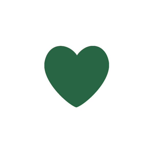 Shop Dark Green Heart Vinyl Wall Decals (Set of 36) -  Accessories For A Happy Trendy Modern Home at Low Prices  Color Home Happy - Accessories for a happy modern home