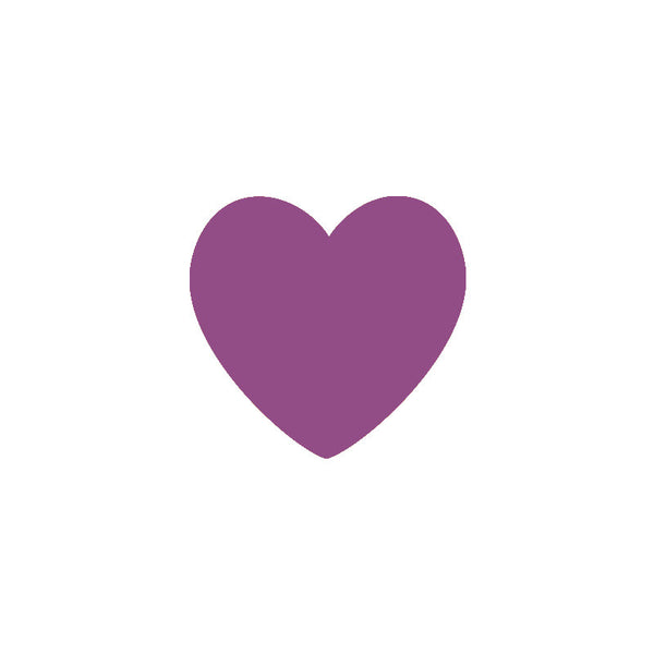 Purple Heart Vinyl Wall Decals (Set of 36) - Color Home Happy - Accessories for a happy modern home