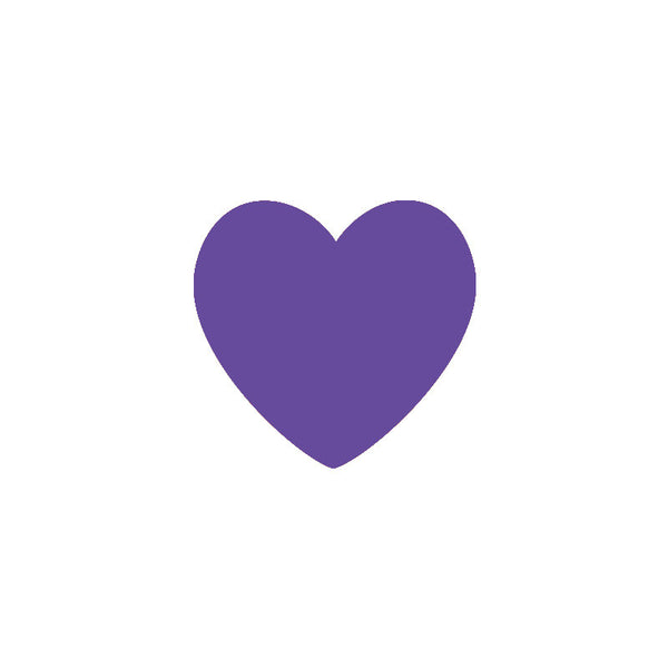 Shop Purple Heart Vinyl Wall Decals (Set of 36) -  Accessories For A Happy Trendy Modern Home at Low Prices  Color Home Happy