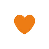Shop Orange Heart Vinyl Wall Decals (Set of 36) -  Accessories For A Happy Trendy Modern Home at Low Prices  Color Home Happy