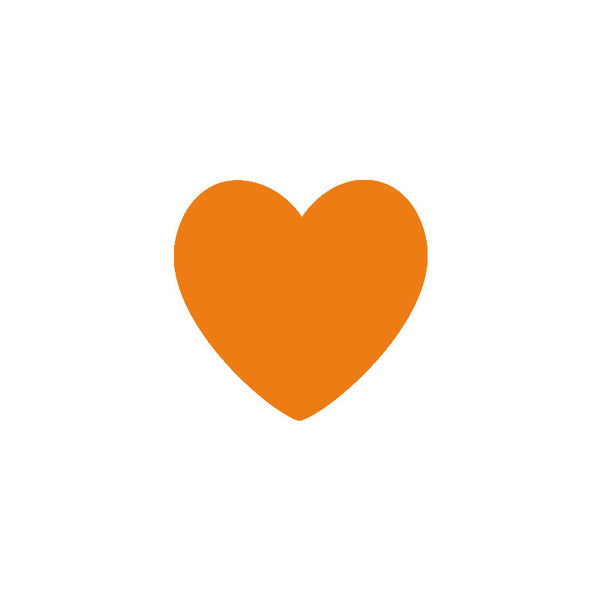 Shop Orange Heart Vinyl Wall Decals (Set of 36) -  Accessories For A Happy Trendy Modern Home at Low Prices  Color Home Happy - Accessories for a happy modern home