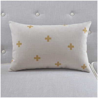Shop Cross Throw Pillow Cover -  Accessories For A Happy Trendy Modern Home at Low Prices  Color Home Happy - Accessories for a happy modern home