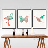 Shop Unframed Bird Canvas Print -  Accessories For A Happy Trendy Modern Home at Low Prices  Color Home Happy