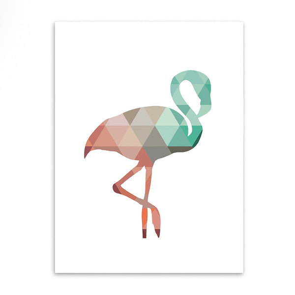Shop Unframed Flamingo Canvas Print -  Accessories For A Happy Trendy Modern Home at Low Prices  Color Home Happy