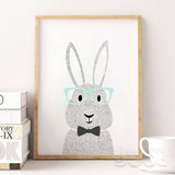 Shop Unframed Rabbit Canvas Art Print -  Accessories For A Happy Trendy Modern Home at Low Prices  Color Home Happy - Accessories for a happy modern home