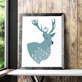 Shop Unframed Moose Art Print -  Accessories For A Happy Trendy Modern Home at Low Prices  Color Home Happy