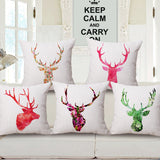 Shop Antlers Throw Pillow Cover -  Accessories For A Happy Trendy Modern Home at Low Prices  Color Home Happy