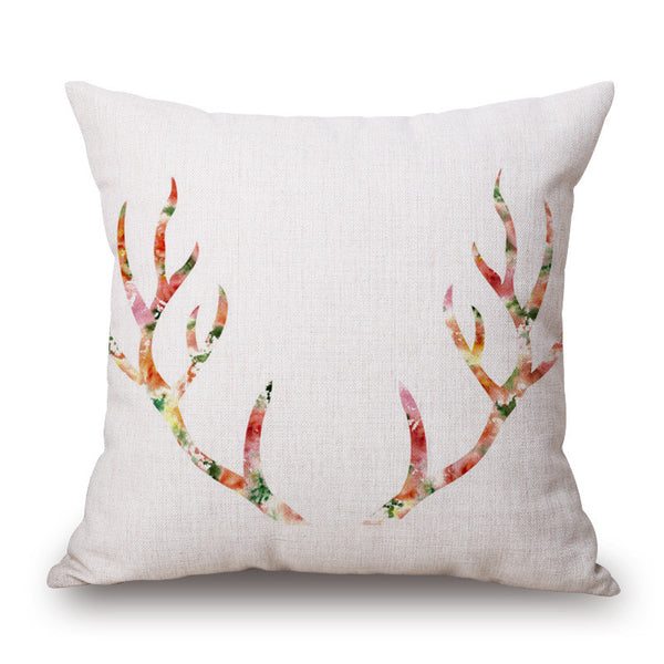 Antlers Throw Pillow Cover