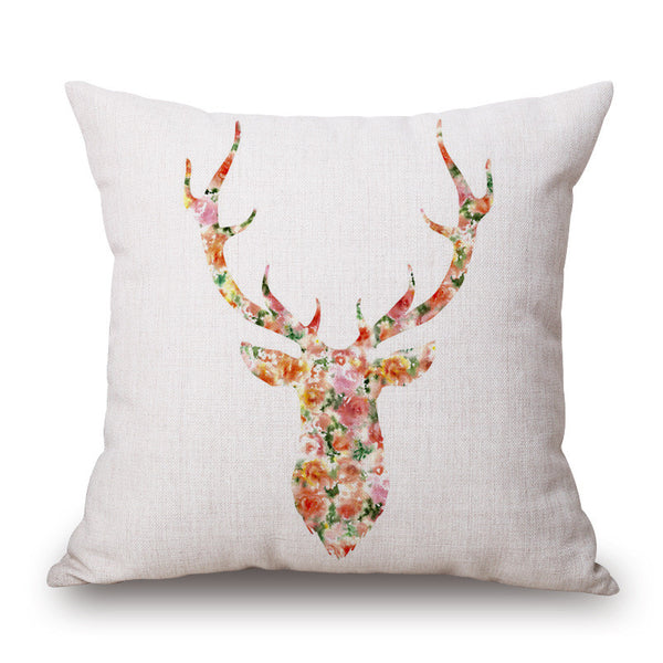 Shop Deer Throw Throw Pillow Cover -  Accessories For A Happy Trendy Modern Home at Low Prices  Color Home Happy - Accessories for a happy modern home