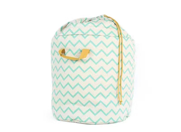 Shop Chevron Storage Bin with Drawstring -  Accessories For A Happy Trendy Modern Home at Low Prices  Color Home Happy
