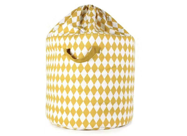 Shop Diamond Storage Bin with Drawstring -  Accessories For A Happy Trendy Modern Home at Low Prices  Color Home Happy
