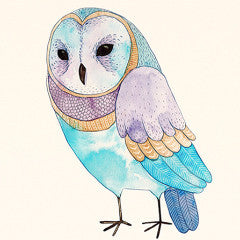 Unframed Owl Canvas Art Print - Color Home Happy - Accessories for a happy modern home