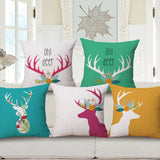 Shop Deer Throw Pillow Cover -  Accessories For A Happy Trendy Modern Home at Low Prices  Color Home Happy - Accessories for a happy modern home