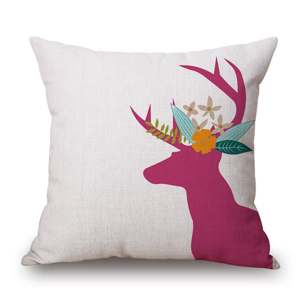 Deer Throw Pillow Cover