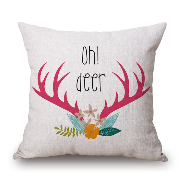 Oh! Deer Throw Pillow Cover