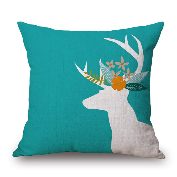 Shop Deer Throw Pillow Cover -  Accessories For A Happy Trendy Modern Home at Low Prices  Color Home Happy