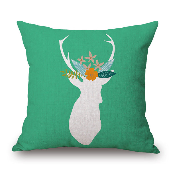 Deer Throw Pillow Cover - Color Home Happy - Accessories for a happy modern home