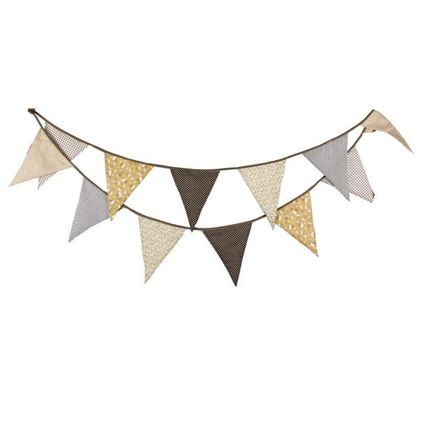 Shop Fabric Triangles Bunting -  Accessories For A Happy Trendy Modern Home at Low Prices  Color Home Happy