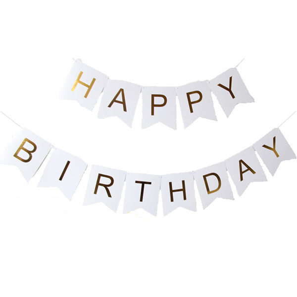 Shop Happy Birthday Paper Garland Bunting -  Accessories For A Happy Trendy Modern Home at Low Prices  Color Home Happy