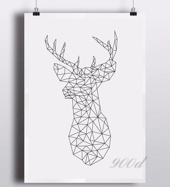 Shop Unframed Deer Canvas Art Print -  Accessories For A Happy Trendy Modern Home at Low Prices  Color Home Happy