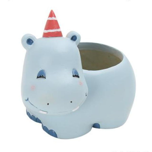 Cute Hippo Succulent Planter - Color Home Happy - Accessories for a happy modern home